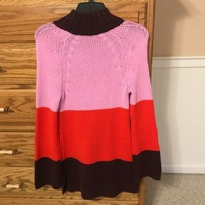 NWT Ann Taylor Size XS Tunic Turtleneck Sweater